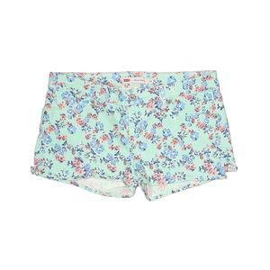 Levi's Women's Floral Denim Shorty Shorts sz 15